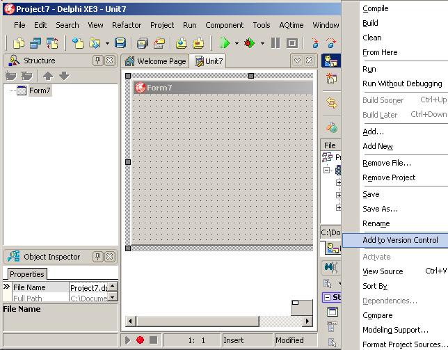 delphi_add_to_versioncontrol